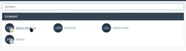 Addon Domains para agregar múltiples dominios en tu hosting web