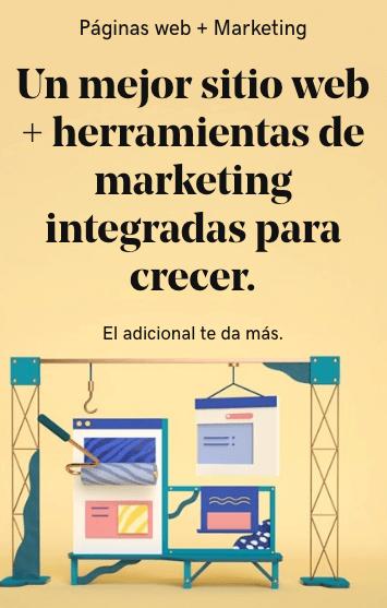 Crea una excelente página web y haz crecer tu negocio con herramientas de marketing. GoDaddy te ayuda