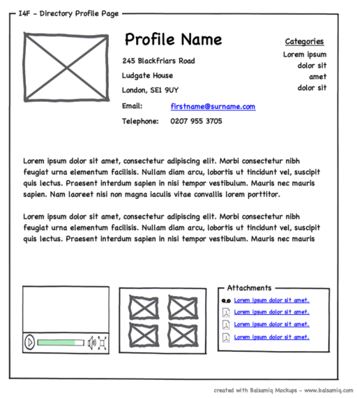 Programas para planear sitios web: Balsamiq
