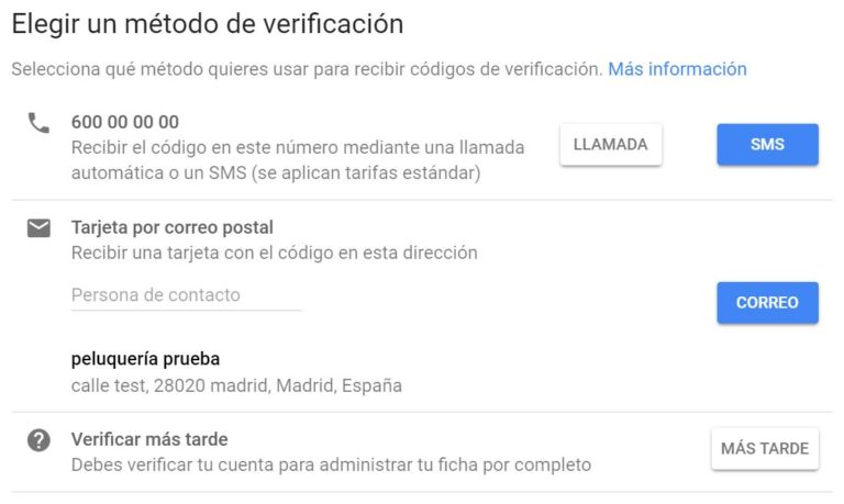 Verificacion Google MyBusiness