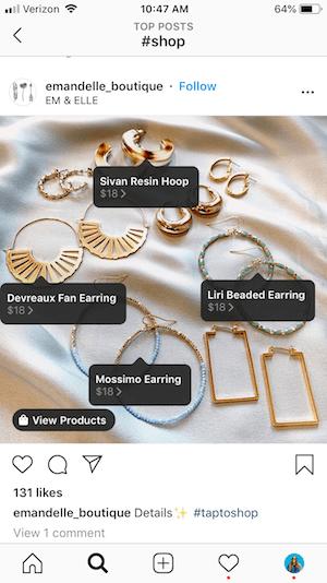 Instagram - Cómo mostrar tus productos de venta en línea
